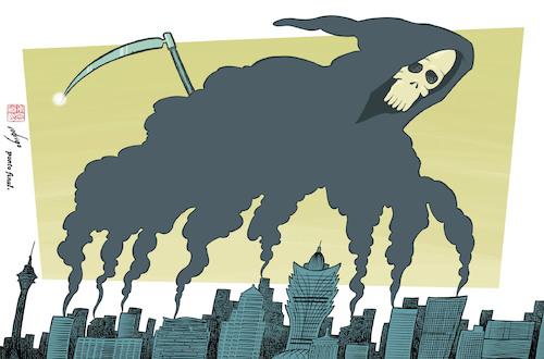 Deadly Pollution By Rodrigo Politics Cartoon Toonpool