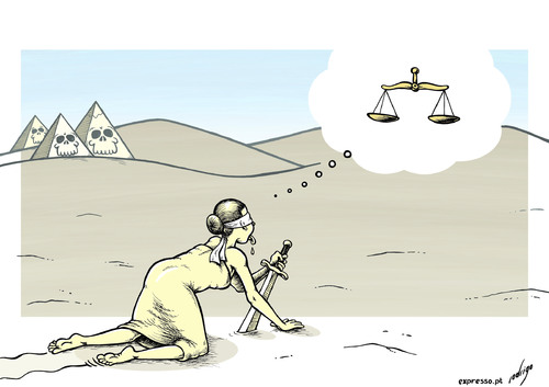 Cartoon: Desert wandering in Egypt (medium) by rodrigo tagged egypt,justice,death,penalty,executions,politics,morsi,muslim,brotherhood