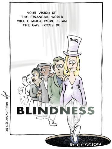 Financial Blindness By rodrigo | Business Cartoon | TOONPOOL