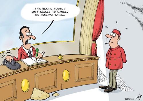 Hotel crisis By rodrigo   Business Cartoon   TOONPOOL