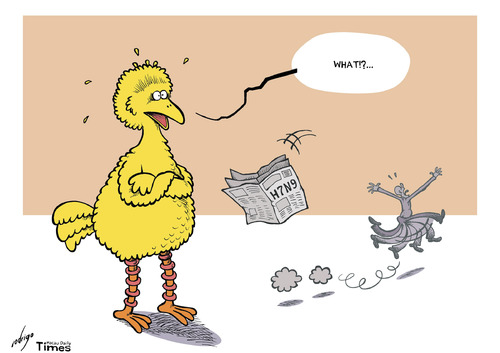 Cartoon: New bird flu panic (medium) by rodrigo tagged outbreak,health,death,virus,h7n9,flu,bird,china,asia