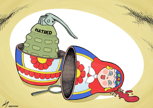 Resultado de imagen de CARTOONS ON RUSSIA AND CHECHNYA