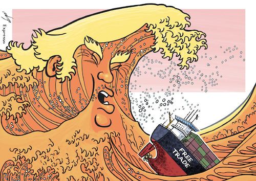 Image result for trump trade cartoon