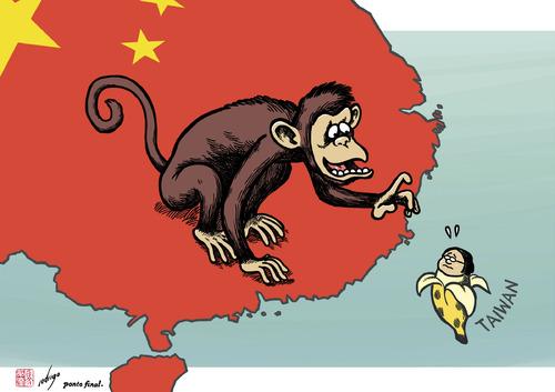 Year of the Monkey in Taiwan By rodrigo | Politics Cartoon | TOONPOOL
