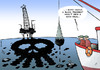 Cartoon: Black oil spill (small) by rodrigo tagged barack,obama,us,usa,president,white,house,black,bp,gulf,of,mexico,oil,spill,louisiana,florida