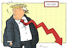 Cartoon: Down Jones (small) by rodrigo tagged trump twitter remark dow jones markets wall street stock market