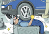 Cartoon: Overworkswagen (small) by rodrigo tagged auto industry volkswagen work employees workers overwork strike pay layoff