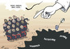 Cartoon: Papal counting-out (small) by rodrigo tagged pope francis catholic church religion vatican papal conclave god