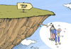 Cartoon: US Fiscal Cliff (small) by rodrigo tagged usa,united,states,economy,fiscal,cliff,taxes,president,barack,obama,democratic,party