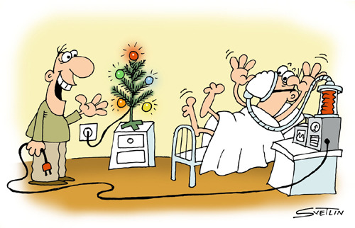 Cartoon: merry christmas (medium) by Svetlin Stefanov tagged merry,christmas