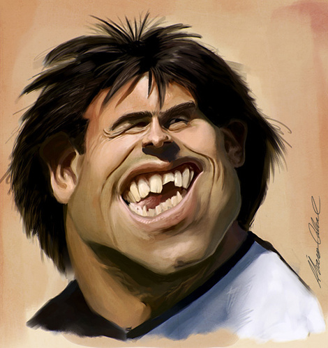 Cartoon: CarlosTevez (medium) by alvarocabral tagged caricature
