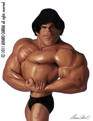 Cartoon: Lou  Ferrigno (medium) by alvarocabral tagged caricature