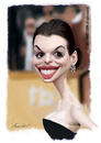 Cartoon: Anne Hathaway (small) by alvarocabral tagged caricature