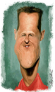 Cartoon: Michael Schumacher (small) by alvarocabral tagged caricature