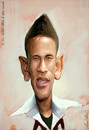 Cartoon: Neymar (small) by alvarocabral tagged caricature