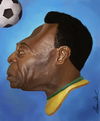 Cartoon: Pele (small) by alvarocabral tagged caricature