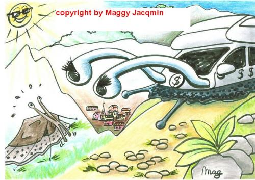 Cartoon: Snail-vacation (medium) by Mag tagged culture,media,education,philosophy,nature