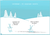 Cartoon: Schneehasen 2 (small) by Yavou tagged schneehasen hasen schnee bunnies rabbits snow zählzwang arithmomanie cartoon