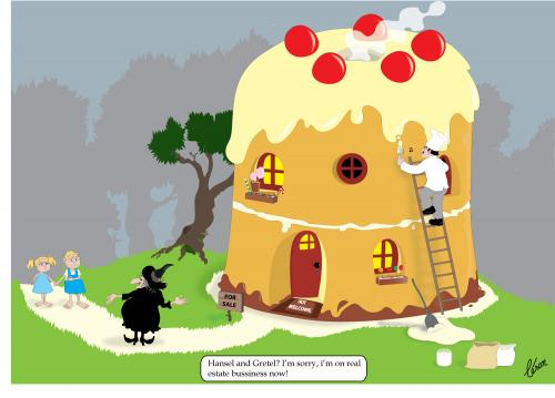 Cartoon: Hansel e Gretel unemployed (medium) by besereno tagged hansel,and,gretel