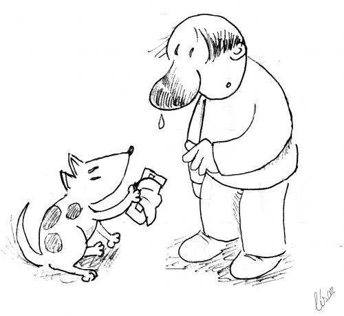 Cartoon: Obrigado - Thank you (medium) by besereno tagged dog,cao