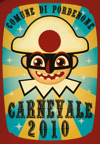 Cartoon: REFUSED CARNEVALE POSTCARD (medium) by zellaby tagged carnevale,zellaby,pordenone