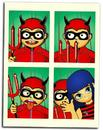 Cartoon: DEHZAOO INVASION (small) by zellaby tagged bangs,mask,photobooth,devil,halloween