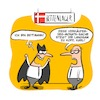 Cartoon: Bettmann (small) by NA KLAAR tagged batman,bettmann,verkäufer,konsum