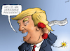 Cartoon: Phone Bomb (small) by cartoonistzach tagged politics,international,trump,america,usa,zelensky,impeachment,president