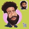 Cartoon: caricature of Donald Glover (small) by Gamika tagged caricature,of,donald,glover