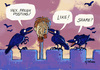 Cartoon: Early Facebook (small) by Kringe tagged facebook,posting,post,head,beheaded,raven
