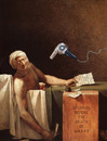 Cartoon: Seconds before Death of Marat (small) by Kringe tagged marat,david,death,murder