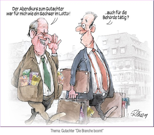 Cartoon: Gutachter (medium) by Ritter-Karikaturen tagged geldverschwendung