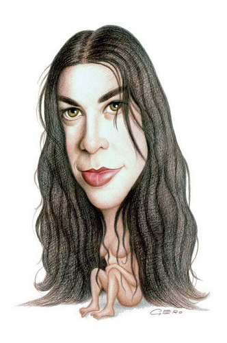 Cartoon: Alanis Morissette (medium) by Gero tagged caricature