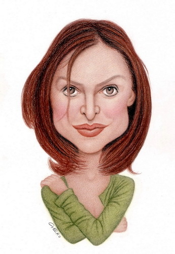 Cartoon: Calista Flockhart (medium) by Gero tagged caricature