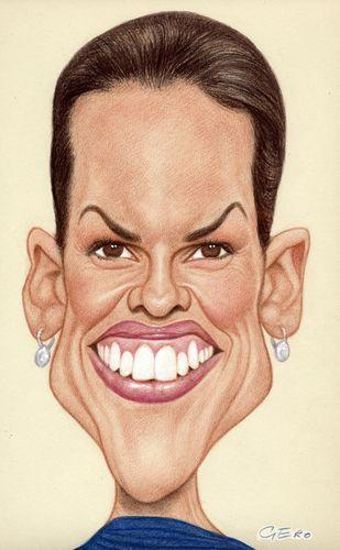 hilary swank fotos. Cartoon: Hillary Swank