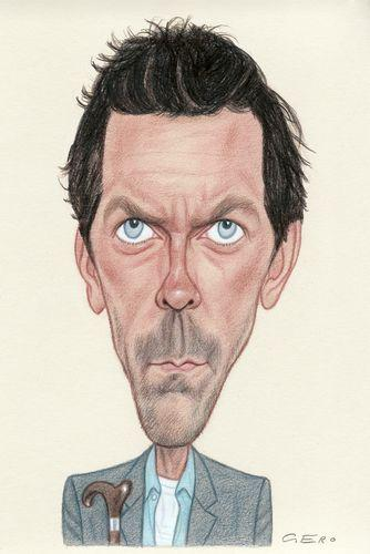 Cartoon: Hugh Laurie (medium) by Gero tagged caricature