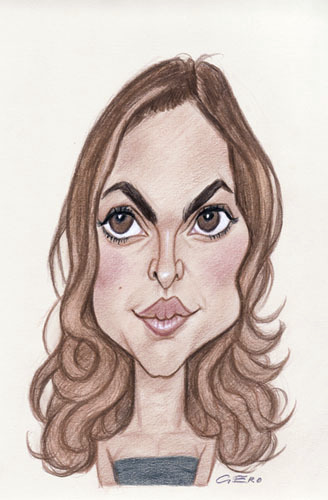 Cartoon: Natalie Portman (medium) by Gero tagged caricature