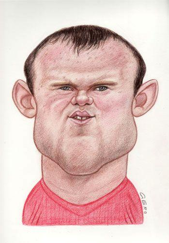 Wayne Rooney Caricature Cartoon Wayne Rooney medium by Gero tagged caricature