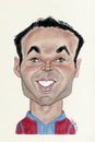 Cartoon: Andres Iniesta (small) by Gero tagged caricature