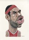 Cartoon: LeBron James (small) by Gero tagged caricature