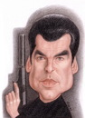 Cartoon: Pierce Brosnan (small) by Gero tagged caricature