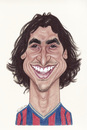 Cartoon: Zlatan Ibrahimovic (small) by Gero tagged caricature