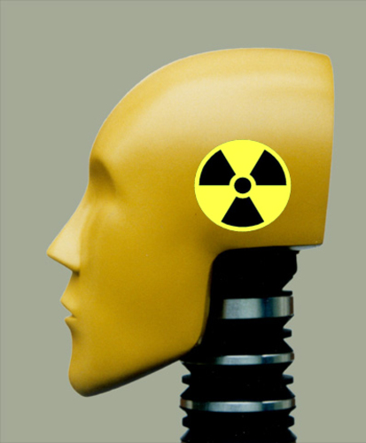 Cartoon: nuclear dummy (medium) by tanerbey tagged nuclear,dummy