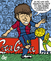 Cartoon: Lionel Messi Balon de Oro 2010. (small) by lexgromiko tagged lionel messi balon oro 2010 barcelona