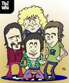 Cartoon: The Who (small) by lexgromiko tagged the,who,band,townshend,rock