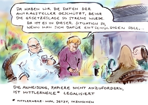 Cartoon: Aus illegal legal machen (medium) by Bernd Zeller tagged bundesregierung