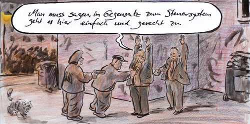 Cartoon: Einfaches Systeam (medium) by Bernd Zeller tagged steuersystem,steuerreform