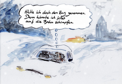 Eingeschneit By Bernd Zeller Education Tech Cartoon