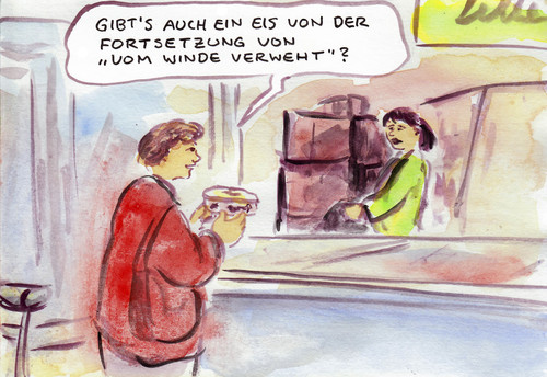 Cartoon: Eis zum Film (medium) by Bernd Zeller tagged kino,film,eis