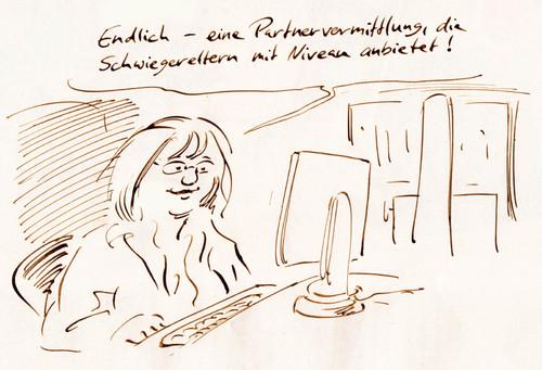 Cartoon partnervermittlung